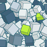 Vector cube background. royalty free illustration