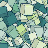 Vector cube background. stock illustration