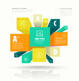Vector cube box for business concepts with icons. Stock Photos