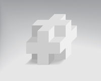 Vector cube Stock Image