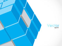 Vector cube for infographic design, you can change. Vector illustration of 3d cubes Royalty Free Stock Photography