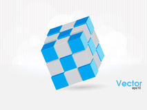 Vector cube for infographic design, you can change. Vector illustration of 3d cubes Stock Photos