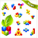 Vector cube for web. Stock Images