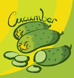 Vector cucumber  Royalty Free Stock Photography