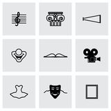 Vector Culture icon set Royalty Free Stock Image
