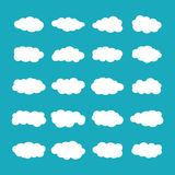 Vector cumulus clouds set in flat style Royalty Free Stock Images
