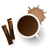 Vector cup of coffee Royalty Free Stock Photography