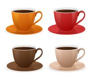 Vector cup of coffee set Royalty Free Stock Images