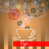 Vector cup of coffee with smoke, Idea concept Royalty Free Stock Photography