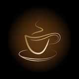 Vector cup off coffee Royalty Free Stock Photos