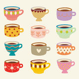 Vector cup set Royalty Free Stock Photography