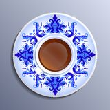 Vector a cup of tea Royalty Free Stock Photos