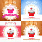 Vector cupcake banner Stock Photo
