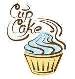 Vector Cupcake Stock Images