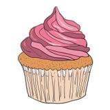 Vector  cupcake Stock Photo