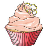 Vector cupcake isolated on white Stock Image