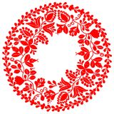 Vector cupcake sweet card Red vector wreath  on white background Stock Photos