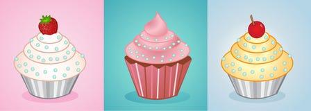 Vector cupcakes Stock Photos