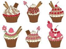 Vector Cupcakes Set, Cupcake Clipart Stock Photography