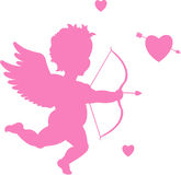 Vector cupid. Pink vector cupid, valentin'es day items Royalty Free Stock Photography