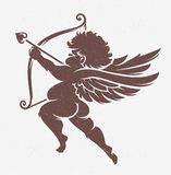 Vector Cupid Silhouette Royalty Free Stock Image
