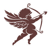 Vector Cupid Silhouette Stock Image