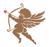Vector Cupid Silhouette Royalty Free Stock Photo