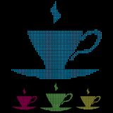 Vector cups. Vector illustration of a coffee cup icon Royalty Free Stock Photo
