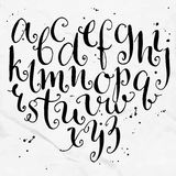 Vector curly alphabet. Artistic hand drawn Royalty Free Stock Image