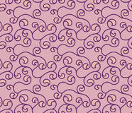 Vector curly cherry red seamless pattern Royalty Free Stock Photos
