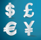 Vector currency icons Stock Image