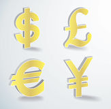 Vector currency icons Stock Photography