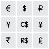 Vector Currency symbol icon set Royalty Free Stock Photos