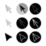 Vector cursor arrows set. Mouse arrows icons collection. Stock Photo