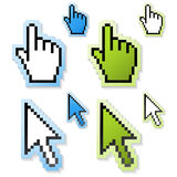 vector cursors of hand and arrow Stock Photography