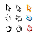 Vector cursors set. Arrow, hand. Vector cursors set isolated on white background. Arrow, hand Stock Photo