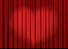 Vector curtain with heart spotlight Royalty Free Stock Photo