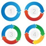 Vector curvado del Información-gráfico de las flechas del flujo de proceso Fotografía de archivo libre de regalías
