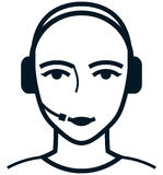 Vector customer care service specialist woman illustration Royalty Free Stock Photo