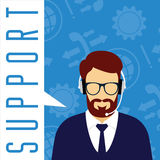 Vector customer service concept. Technical support. Stock Photography