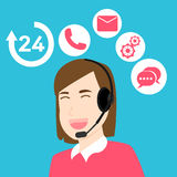 Vector Customer service and support. Call Center Customer Support Service Stock Photo