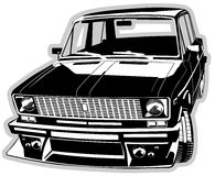 Vector customized car Stock Images