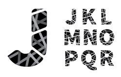 Vector cut paper font Stock Images