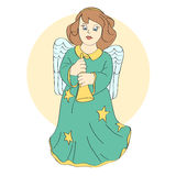 Vector cute angel Stock Photography