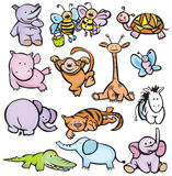 Vector of cute  animals Stock Images