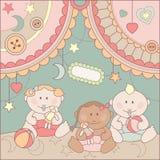 Vector cute arrival card Royalty Free Stock Photos