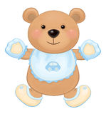Vector cute baby bear cartoon. Royalty Free Stock Images