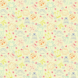 Vector cute background collection of baby and children clothes. Stock Photo