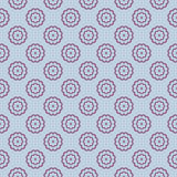 Vector cute blooming flowers seamless pattern Royalty Free Stock Photos