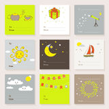 Vector cute cards collection Royalty Free Stock Images